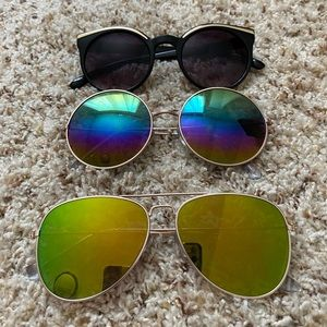 Set of Claire'a Sunglasses
